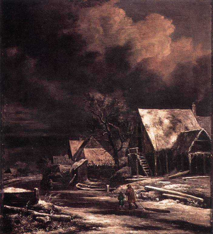 Jacob_Isaacksz._van_Ruisdael_-_Village_in_Winter_by_Moonlight_-_WGA20498