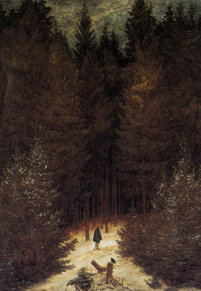 The_Chasseur_in_the_Forest_by_Caspar_David_Friedrich