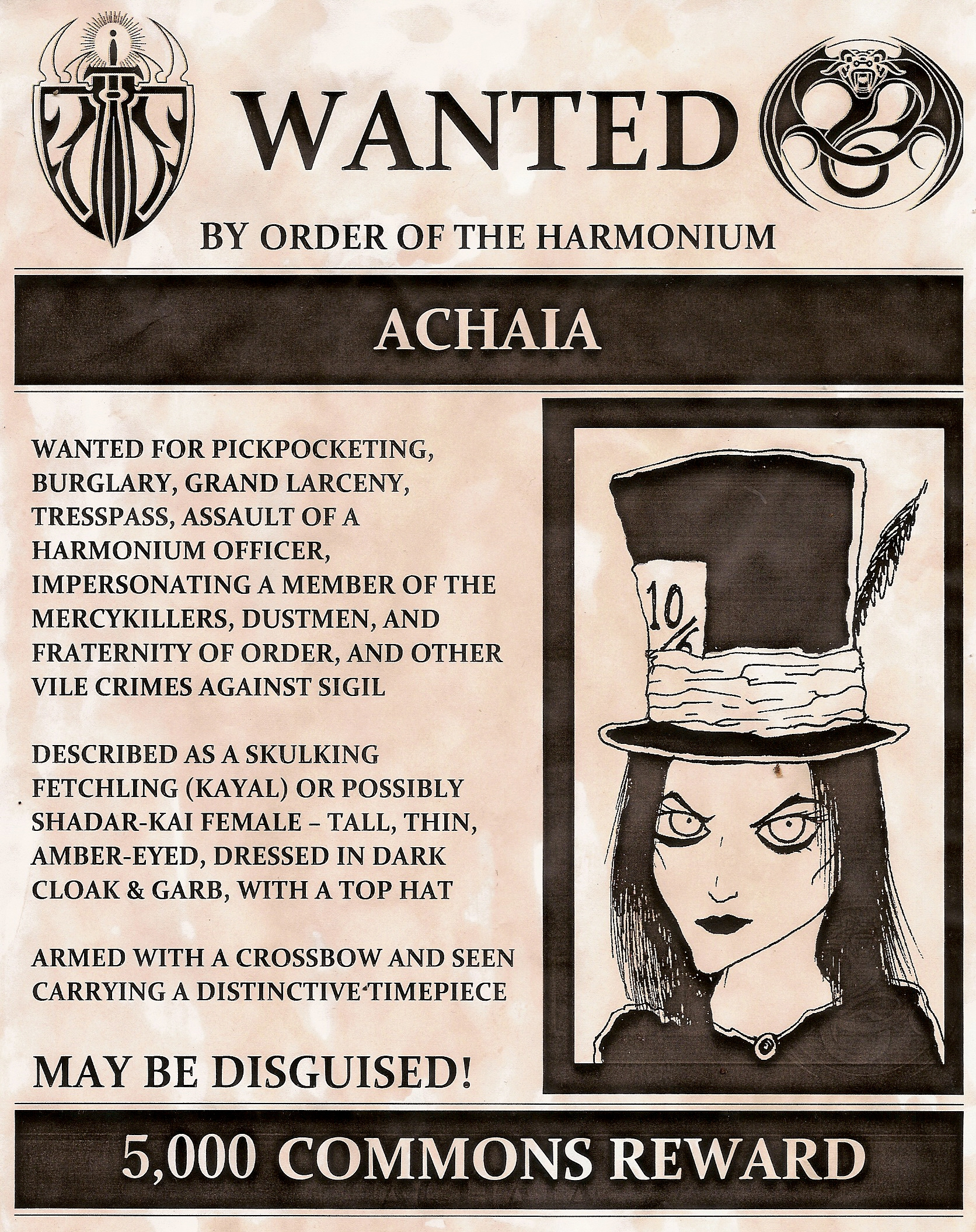 Wanted Achaia