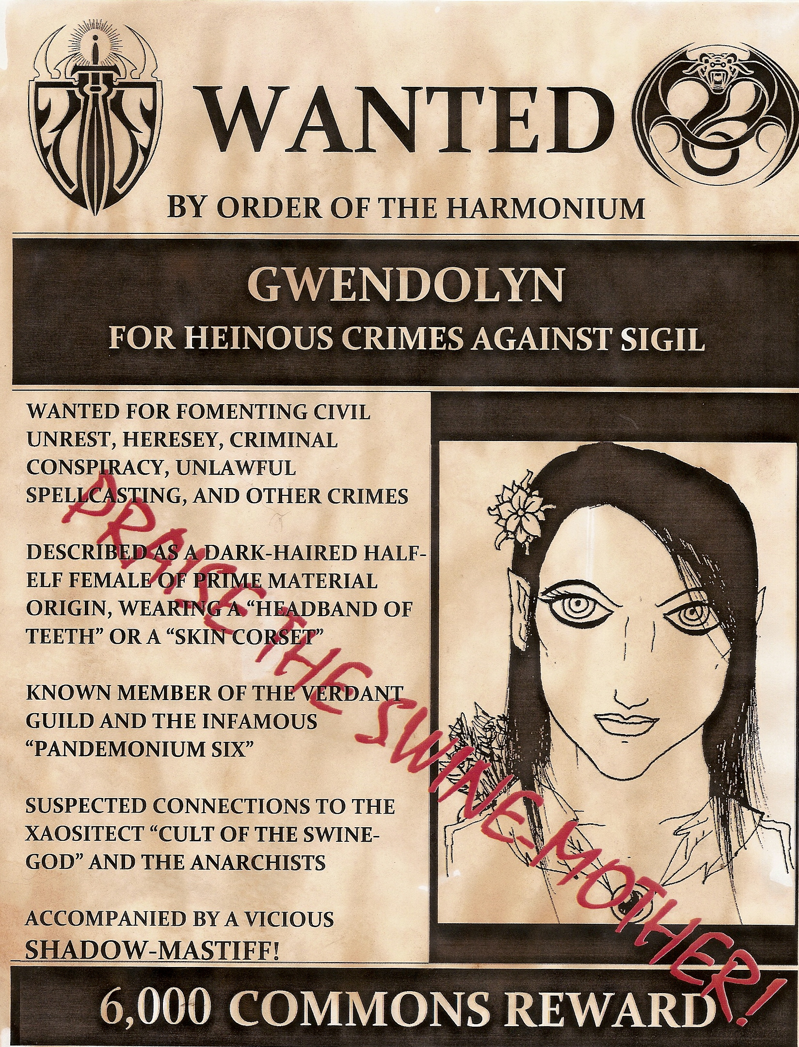 Wanted Gwendolyn