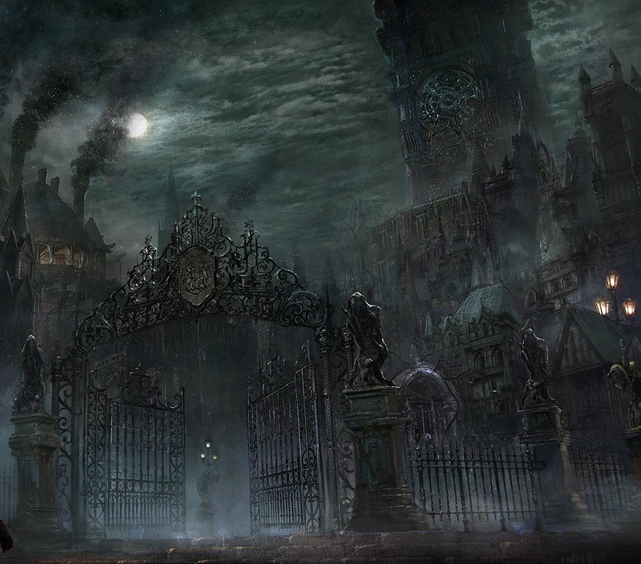 bloodborne key art and concept art video game on playstation